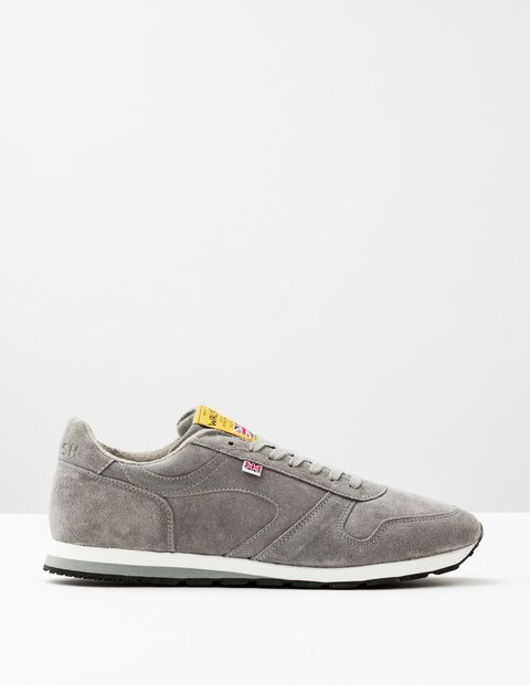 Boden Walsh Seoul 88 Grey Suede Men Boden, Grey Suede Originally developed as a mixed-terrain running shoe for the GB Olympic team in 1988, these trainers are still produced by expert craftsmen in the Walsh factory in Bolton, England. Made from premium m http://www.MightGet.com/april-2017-1/boden-walsh-seoul-88-grey-suede-men-boden-grey-suede.asp