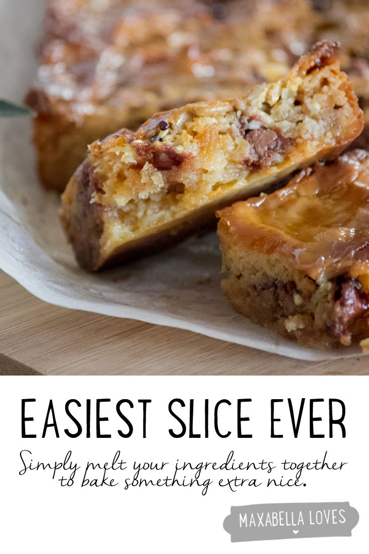 Easiest slice recipe ever (with choc chips and yummy things)