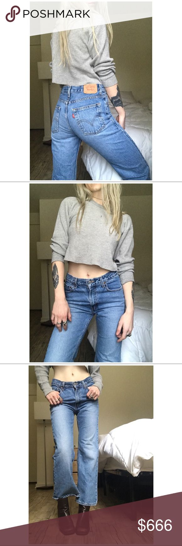 """🐰// Perfect Wash 5027 Levi's // + Good worn-in condition - please observe photos + Tagged as a size 14 - fits like a WOMEN'S size 0-2 (Model has a 23-24"""" waist for reference these fit slightly slouchy)  + Mid rise   WAIST: 26""""  RISE:9.5"""" LENGTH: 37""""  INSEAM:29"""" HIPS:36""""  ** This item is priced for quick sale - because of this I will not be accepting offers.**   IF you see the bunny it is buy one get one FREE! Just add your likes to a bundle and I will offer + Levi's Pants Boot Cut & Flare"""