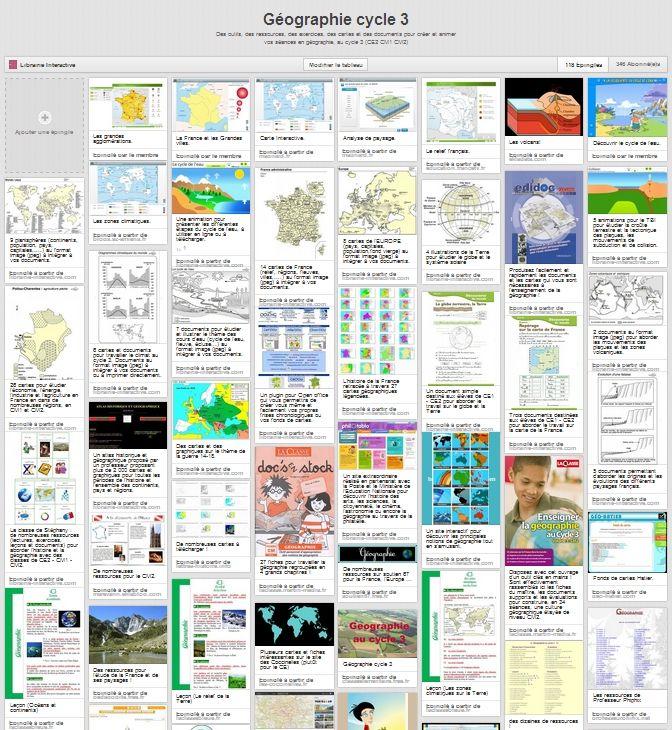 Plus de 100 liens vers des ressources pédagogiques, de la documentation, des exercices, des cartes, des animations et des jeux en ligne pour la géographie au cycle 3 (CE2 - CM1 - CM2)