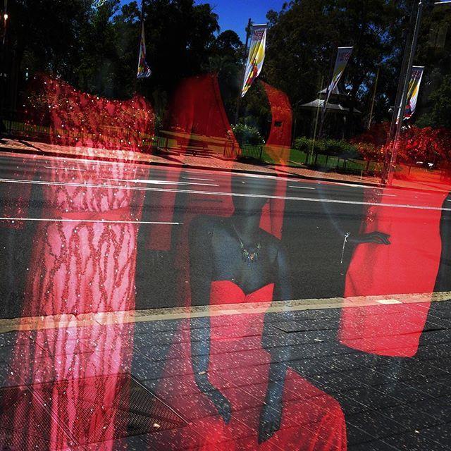 Looking through the window at Parramatta #lenakasparianboutique #lenakasparian #red #window