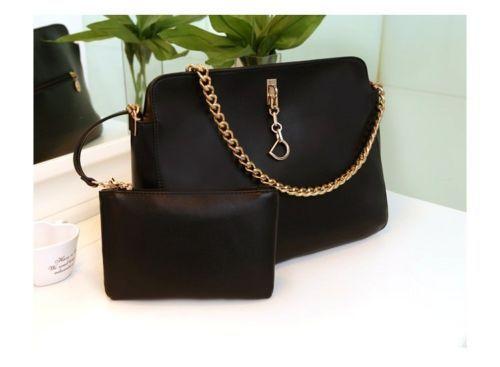 Bag Korea BG4359-Black (2 Pcs Bag) | Kaina Fashion
