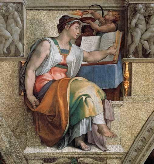 Pintor Michelangelo Buonarroti (Miguel Angel), nacido en Caprese, Florencia, Italia, 1475-1564
