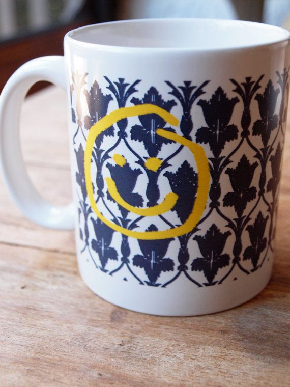 I #want this Sherlock Inspired Ceramic Mug by AfternoonCoffee on Etsy