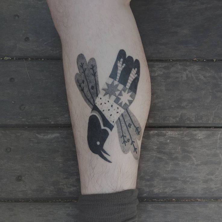 Bird tattoo by Gabriel Bendandi