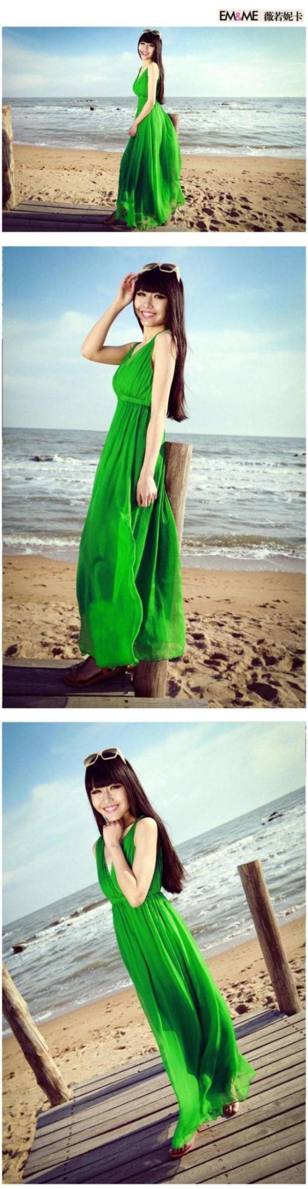 Praia verão das mulheres Vestido Bohemian Silk Vest Vestido longo com decote em v Maxi Vestido Branco de Chiffon vermelho Vestido Branco em Vestidos de Roupas e Acessórios no AliExpress.com | Alibaba Group