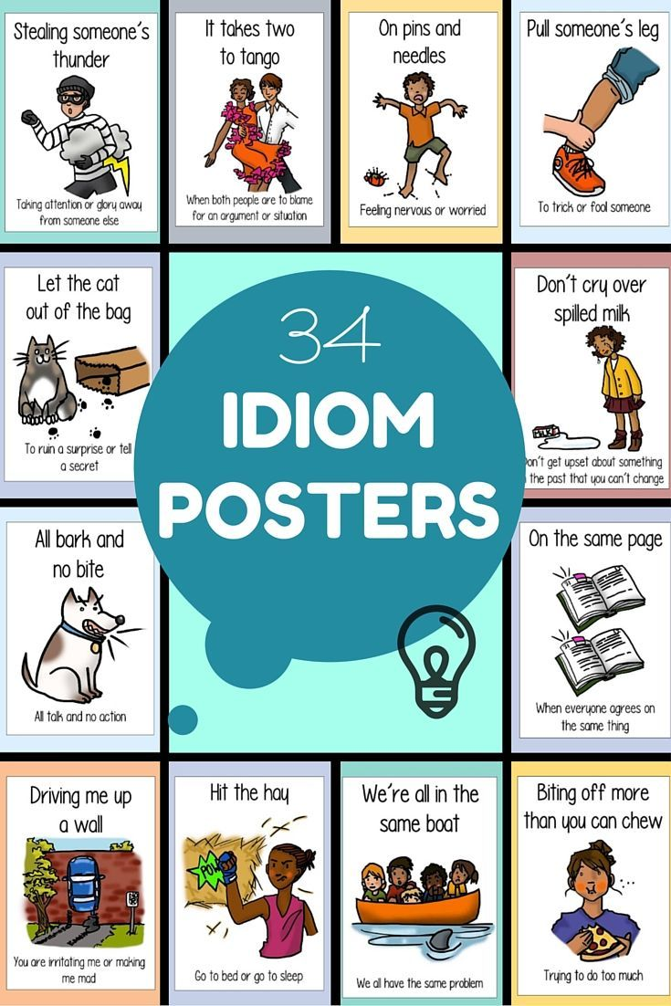 17 best images about teaching idioms idiomatic expressions on idiom posters