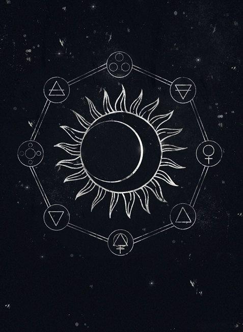 Alchemy symbols gothic fantasy artprint