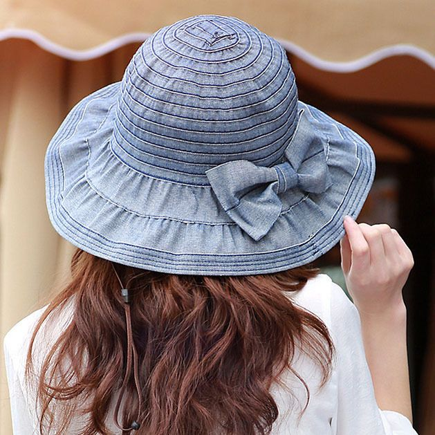 GSMCaps Women s Summer Big Bow Green Bow Ribbon Bowknot Beach Holiday Sunscreen Woven Straw Hat B0777MS5TJ
