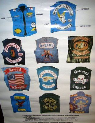 motorcycle club pics | Motorcycle Club Vests Past and Present