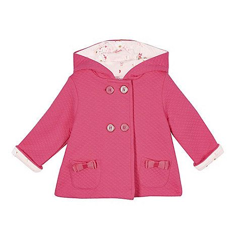 Baker by Ted Baker Babies pink quilted jersey swing jacket- | Debenhams