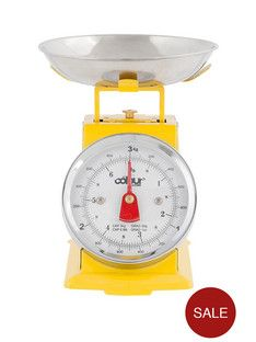 Yellow Mini Traditional Kitchen Scales