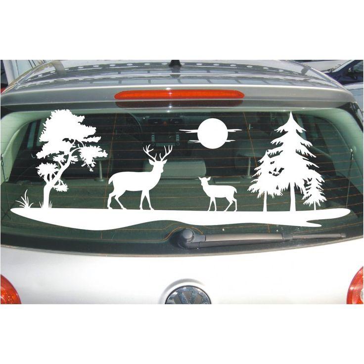 Aufkleber Landschaft  Feld Wiese Bäume Hirsch Rehe Reh Sonne Baum Folie Sticker   Möbel & Wohnen, Dekoration, Wandtattoos & Wandbilder   eBay!