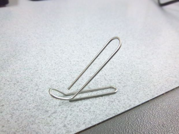 Paperclips for phone stand