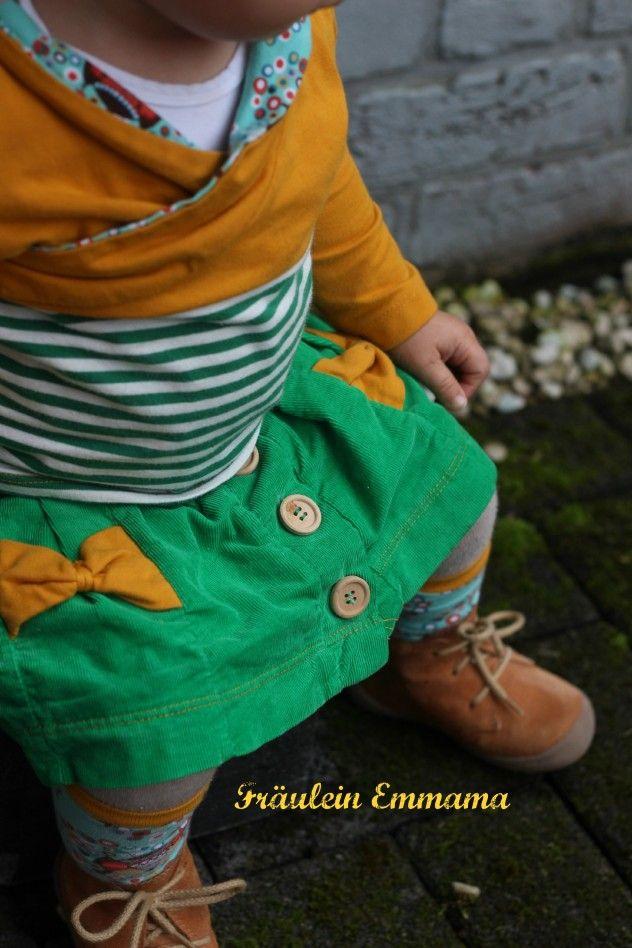 Lillestoff Cord grün , Rock Ginny von Rosarosa Fräulein Emmama - Nähen, Nadeln, Stoffe, Schnitte