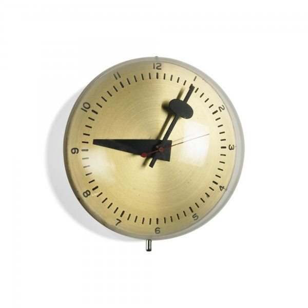 George nelson associates 4759 brass acrylic and for Nelson wall clock