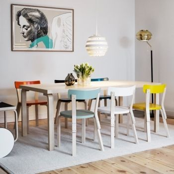 Artek's Aalto chair 69 in new colours picked from the Paimio Sanitarium.