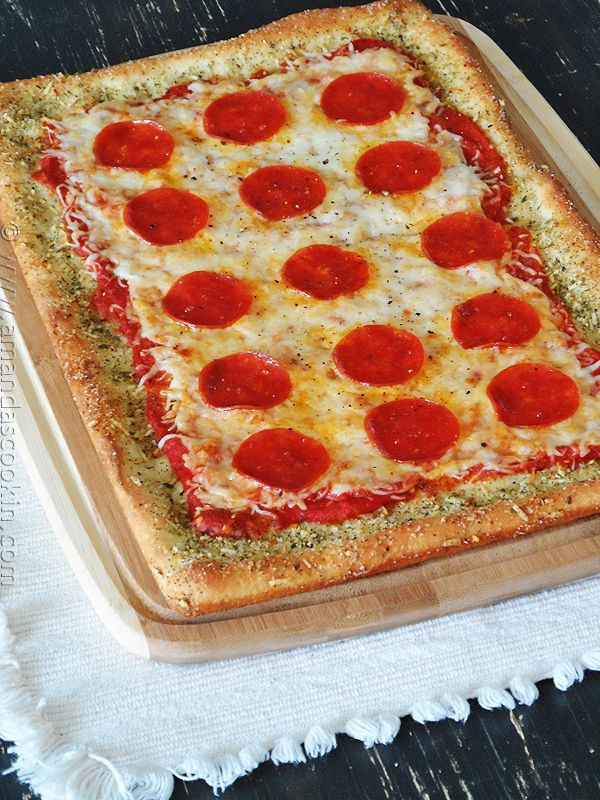 Garlic Bread Pizza: Without the Garlic Bread- made this and it was super yummy! I added pepperoni and sausage.