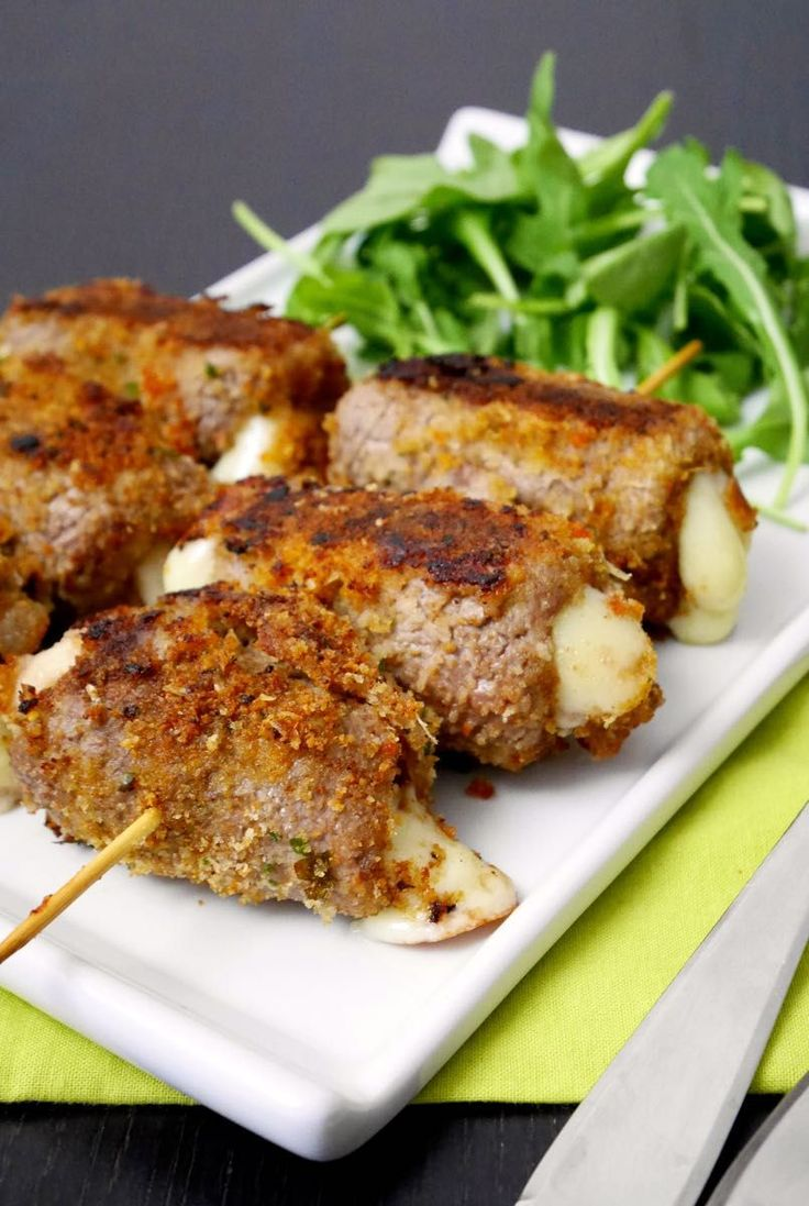 "Meat rolls ""messinese"" / Spiedini alla messinese 