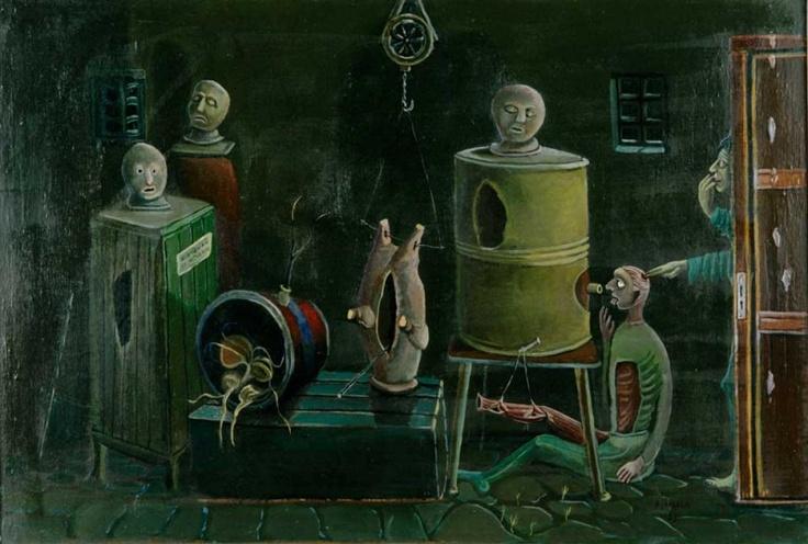 Alpo Jaakola (1929-1997):  A Surprise in the Cellar, 1958