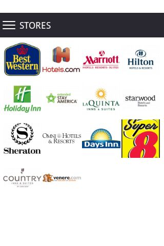 Hotel Coupons app allows to keep easily discount coupons in the phone and to buy more goods at the low prices! All best discounts in your smartphone. Now it isn't necessary to look for the necessary coupon in a handbag or a pocket, it is rather simple to open Hotel Coupons app and to use the necessary discount.<p>Convenient search of coupons in brands: <br>Hotels.com, Marriott, Hilton, Holiday Inn, Best Western, Extended Stay America, La Quinta, Starwood, Country Inn & Suites, Venere…