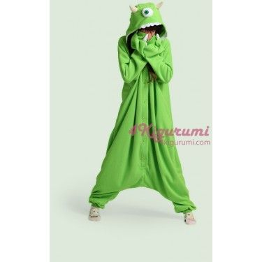 You'll have the scariest costume of them all, so be sure to make up for it by being nice!The One-Eyed Monster Onesie(Mike Wazowski Onesie)  is electric green with big gnashing teeth and some fierce horns Size ChartChoose the size according to the height Based on the