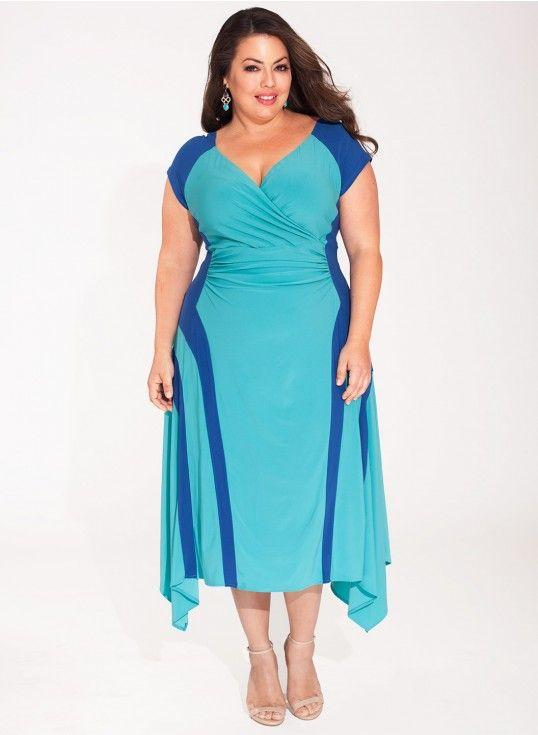 Alisa Dress in Teal Blue