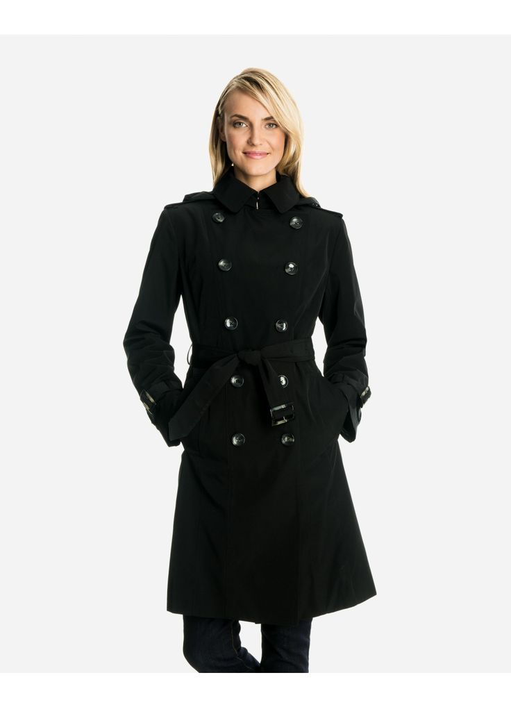 The world's most perfect trench:  London Fog Audrey Classic Double-Breasted Trench Coat (with hood and detachable flannel liner)