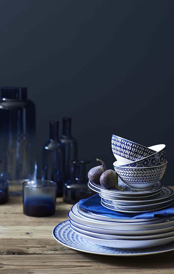 Die besten 25+ Blau und Weiß Ideen auf Pinterest Ingwer-gläser - ausgefallene geschirr und bucherschrank designs