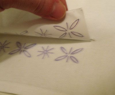 How to Iron On Transfer a Repeat Pattern for Hand Embroidery