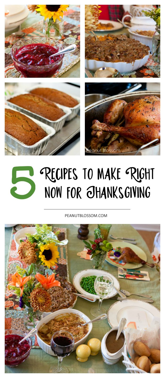 5 prep ahead for Thanksgiving recipes you can make right now. Don't let Thanksgiving menu planning be stressful, these easy holiday recipes can be made early when you have time and then just served on Thanksgiving!