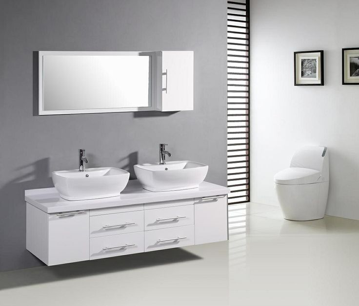 Grey Wall White Vanity Tile Bathroom Grown Up Thoughts Pinterest Bathrooms And Tiles