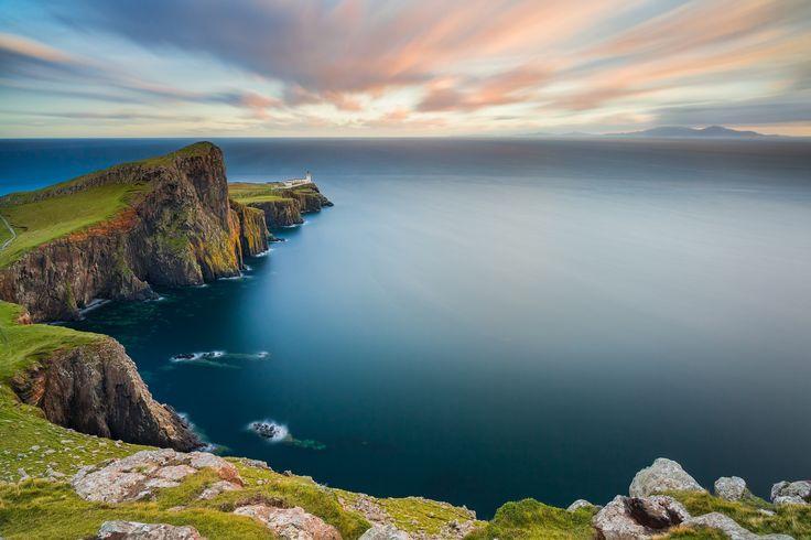 Long Exposure - Sea - Cliff - Sky - Blue