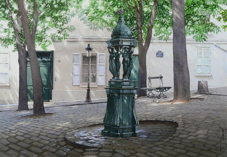 """""""Le banc, la fontaine Wallace, et le Candélabre"""""""