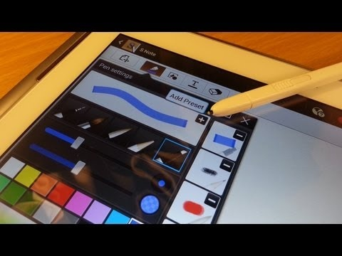 Pen switcher & Colour picker functions on the Samsung Galaxy Note 10.1