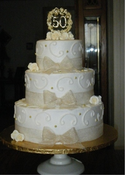 50th Wedding Anniversary Cake By MrsTina on CakeCentral.com