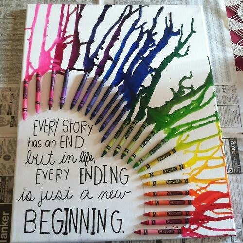 Crayon art with words incorporated