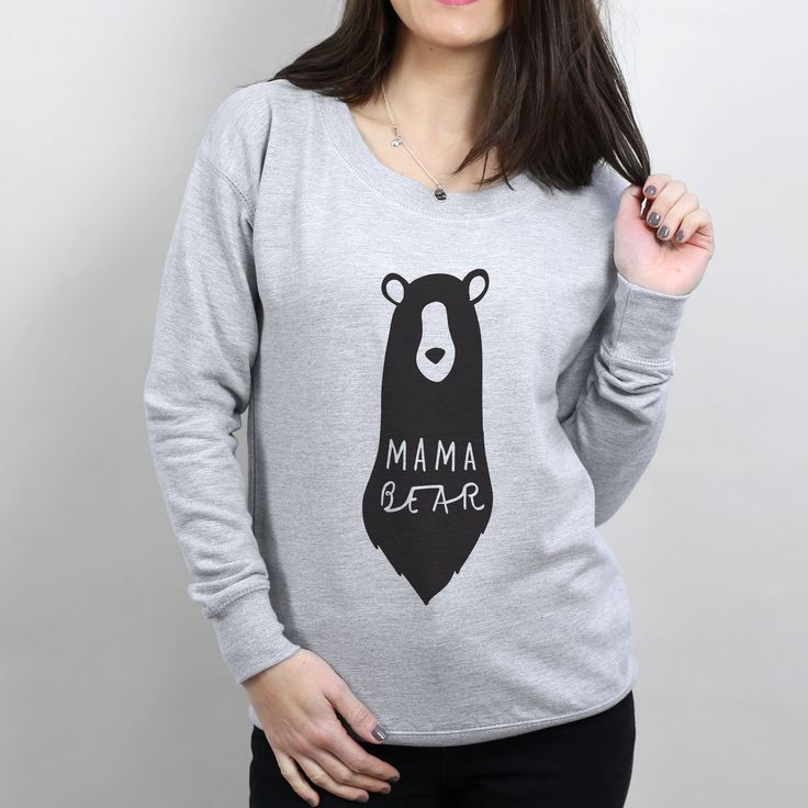 """Style up this Mother's Day with our """"Mama Bear"""" scoop neck sweater! 🐻"""