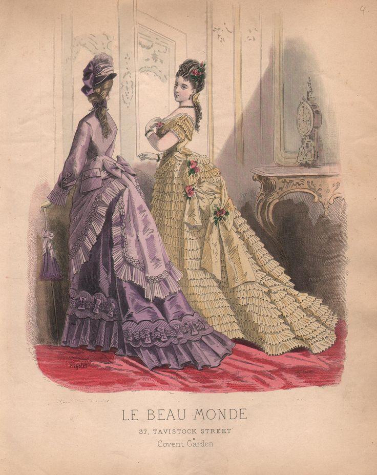 Victorian Women's Fashion Plate from Le Beau Monde Circa 1870s (Print or Digital Image). $9,00, via Etsy.