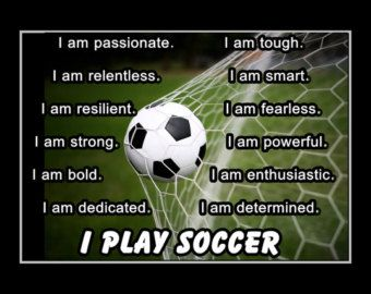 Soccer Motivation Poster Personalized I Play Soccer by ArleyArt