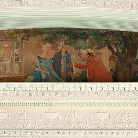Murals in homes - Ware Mansion