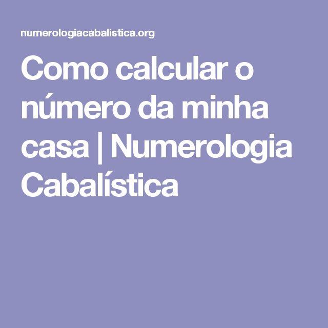 Como calcular o número da minha casa | Numerologia Cabalística