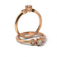 Inel de logodna cu diamante Casimir din aur roz