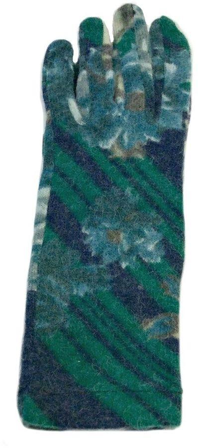 L'Imagine Green Floral Gloves