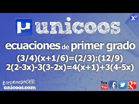Ecuaciones de primer grado SECUNDARIA (2ºESO) matematicas - YouTube