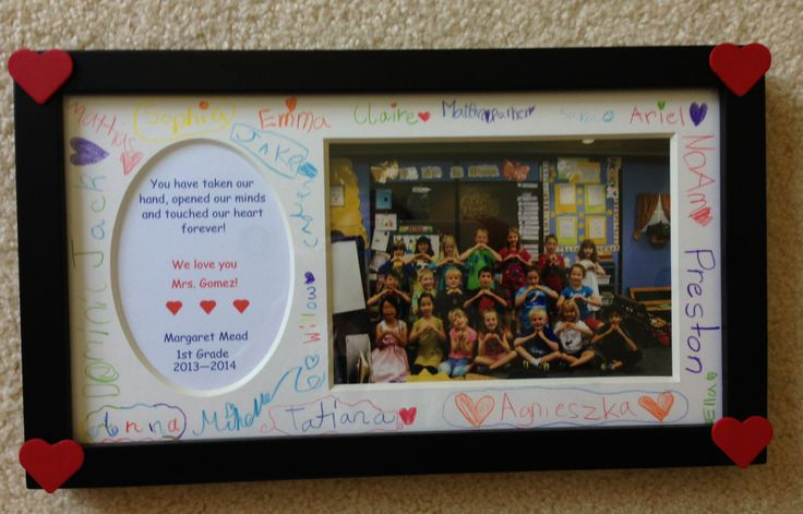 End of school year gift to teacher from students.