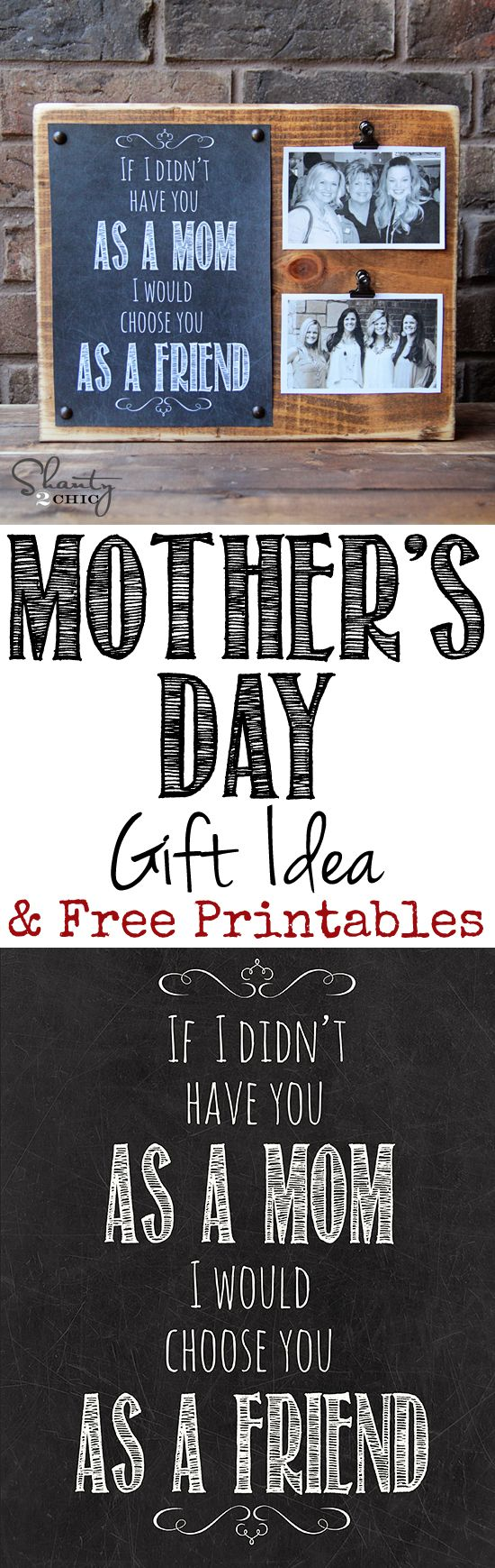 LOVE this Mother's Day Gift and Free Printable!  You can print daughter, aunt, niece and lots more too!