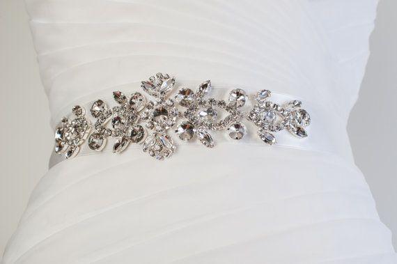 Jewelled Rhinestone Belt rhinestone bridal by CoutureBrideBoutique, $75.00