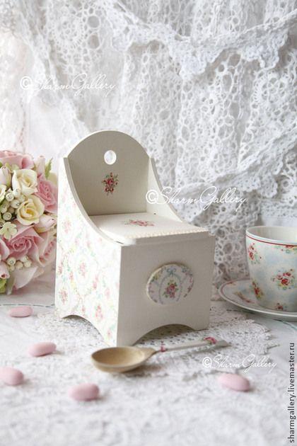 """Кухня ручной работы. Ярмарка Мастеров - ручная работа. Купить Короб для соли (солонка) """"White Rose"""" + ложка.. Handmade."""