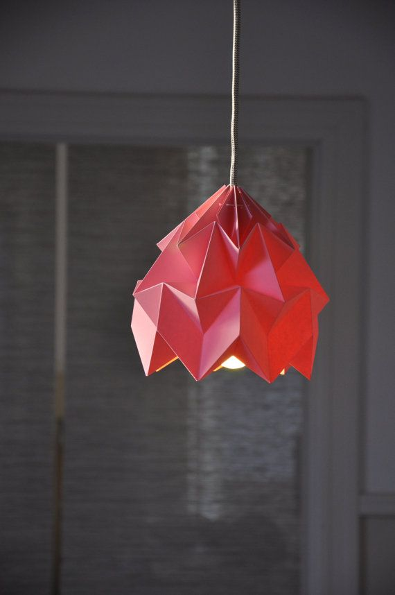 The 25 best origami lampshade ideas on pinterest origami lamp moth origami lampshade by nelli anna on etsy at handmade foldable lampshades paper aloadofball Images